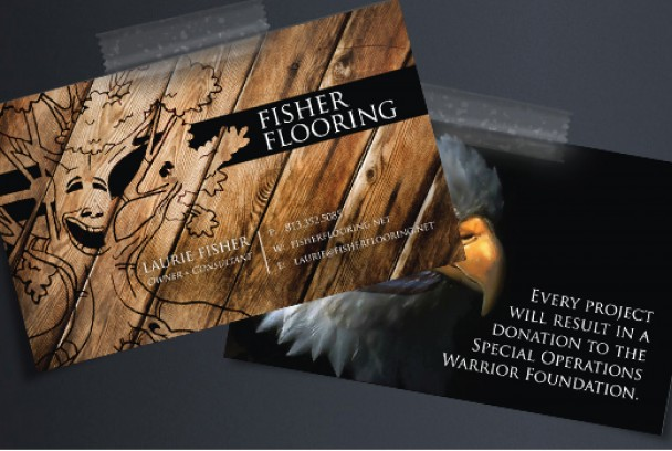 Fisher flooring lauren k graphic designerlauren k graphic designer laurie fisher the the owner and consultant of fisher flooring wanted a logo and business card that expressed what she did as well as incorporated her fun colourmoves
